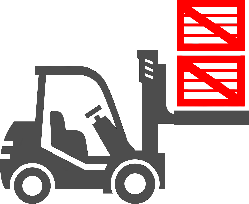 Forklift Moving Boxes